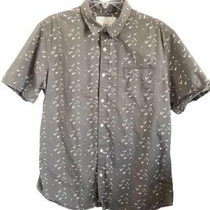 Cactus Handcrafted Goods Button Up Shirt w/Birds